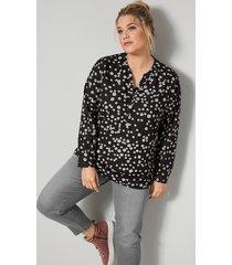 blouse janet & joyce zwart::offwhite