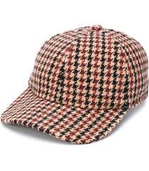 sandro paris houndstooth print baseball cap - neutrals