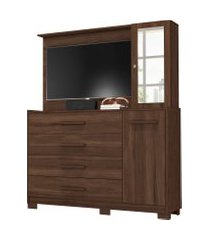 comoda/painel de tv ilhabela 4 gavetas cedro albatroz marrom