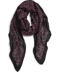 women's rebecca minkoff ditsy floral square scarf, size one size - purple