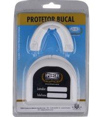protetor bucal punch simples profissional com estojo - branco