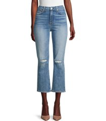 7 for all mankind women's high-rise cropped flare jeans - retro ventura - size 24 (0)