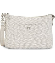powchky woven straw crossbody bag