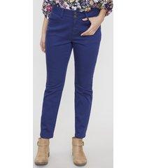 jeans color 2 botones push up navy  corona