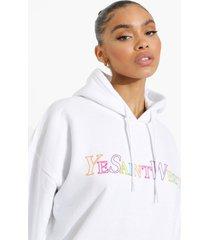 oversized ye saint west hoodie, white