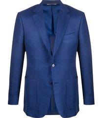 canali woven blazer - blue