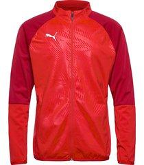 cup trg poly jacket core sweat-shirt tröja röd puma