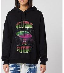 msgm women's future hoodie - black - m