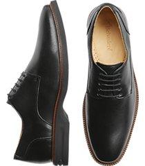 belvedere harvard black plain toe derby dress shoe