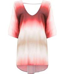 amir slama silk beach dress - red