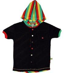 camisa multicolor cante pido negra jamaica