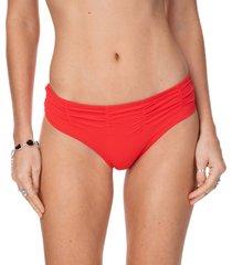 calcinha frente franzida beach vermelho-gg