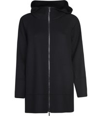 max mara the cube long zip hooded jacket