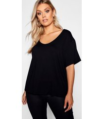 plus super soft oversized basic t-shirt, black