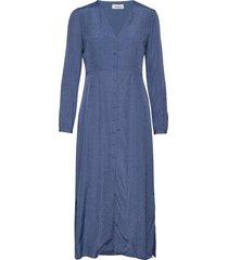 angelina dress maxi dress galajurk blauw modström