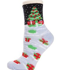 2-pack tree gifts faux fur cabin socks