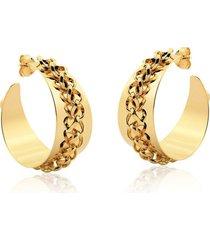 argola le diamond correntes dourada - tricae