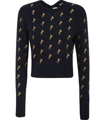 chloé horse print pullover