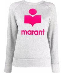isabel marant étoile grey cotton-blend sweatshirt