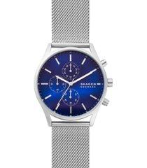 skagen men's chronograph holst stainless steel mesh bracelet watch 42mm