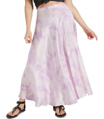 guess arielle tie-dyed slip skirt