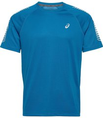 icon ss top t-shirts short-sleeved blå asics