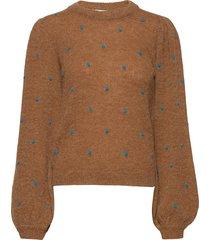 astangz ls pullover ma20 stickad tröja brun gestuz