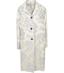 massimo alba floral print buttoned coat