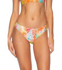women's becca mamba american snake print bikini bottoms