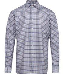 beige twill shirt skjorta casual blå eton