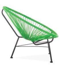 cadeira acapulco verde de corda pet designer