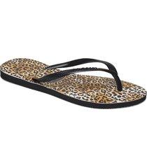 slim leopard shoes summer shoes flip flops svart havaianas