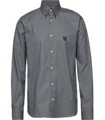 regular shirt with embroidered logo overhemd business grijs tonsure
