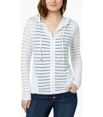 inc shadow-stripe front-zip hoodie, created for macy's