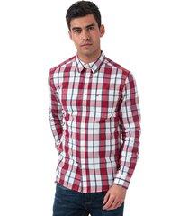 mens 1 pocket checked shirt