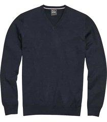 jos. a. bank traveler men's blue modern fit merino sweater - size: 4x