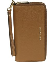 michael kors large jet set zip around wallet