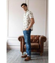 jeans semifitted denim para hombre desgastes