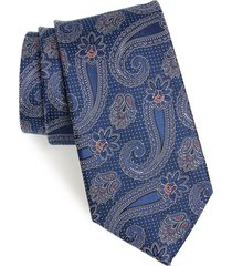 men's nordstrom emery paisley silk tie, size regular - blue