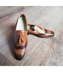 zapatos loafer oxford new para hombre outfit miel