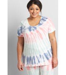 lane bryant women's livi french terry sweatshirt - cutout-back 14/16 white