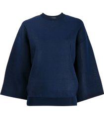 givenchy batwing sleeve boxy top - blue