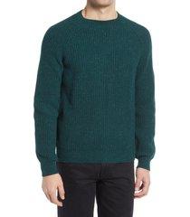 men's a.p.c. men's ludo fisherman sweater, size large - green