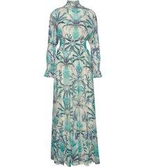 adriana dress maxi dress galajurk blauw by malina