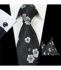 uomini cravatta formale di affari fiori di jacquard di nozze bow tie