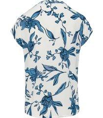 blouse met bloemimpressies van peter hahn multicolour