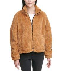 calvin klein jeans sherpa zip-up jacket