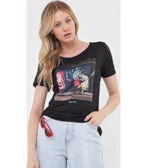 camiseta coca-cola jeans art preta - kanui
