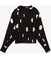 broken dot print scarf top