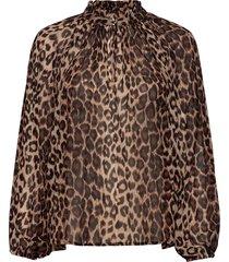 cello blouse blouse lange mouwen bruin second female